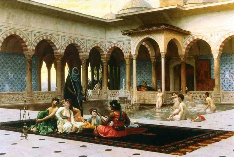 Jean-Leon Gerome The Harem on the Terrace