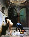 Jean-Leon Gerome A Moorish Bath Turkish Woman Bathing No 2 painting