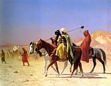animal paintings - Arabs Crossing the Desert by Jean-Leon Gerome
