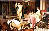 Jean-Leon Gerome Grecian Interior, Le Gynecee painting