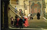 Jean-Leon Gerome The Grey Cardinal painting