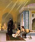 Oriental paintings - The Harem Bath by Jean-Leon Gerome