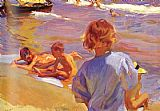 Joaquin Sorolla y Bastida Children on the Beach Valencia painting
