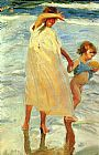Joaquin Sorolla y Bastida The Two Sisters painting