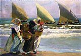 Joaquin Sorolla y Bastida Three Sails painting