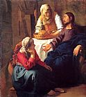 Johannes Vermeer Christ in the House of Mary and Martha painting