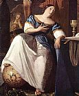 Johannes Vermeer The Allegory of the Faith detail painting