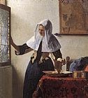 Johannes Vermeer Young Woman with a Water Jug painting