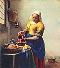Still Life paintings - the Milkmaid by Johannes Vermeer