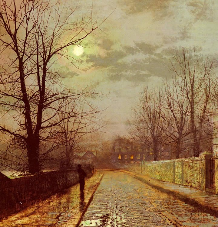 John Atkinson Grimshaw Lane In Cheshire