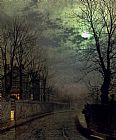 John Atkinson Grimshaw A Lane In Headingley Leeds painting