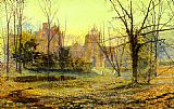 John Atkinson Grimshaw Evening Knostrop Old Hall painting