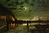 John Atkinson Grimshaw In Peril painting