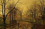 John Atkinson Grimshaw Sixty Years Ago painting