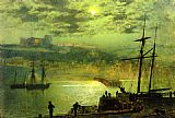John Atkinson Grimshaw Whitby from Scotch Head painting