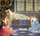 John Collier Sleeping Beauty painting