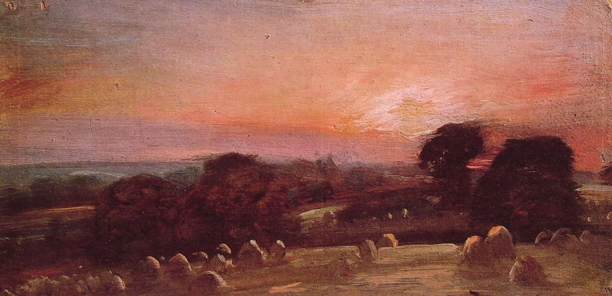John Constable A Hayfield at East Bergholt