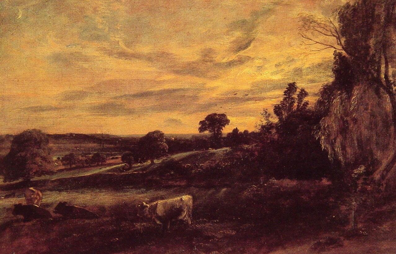 John Constable Landscape Evening