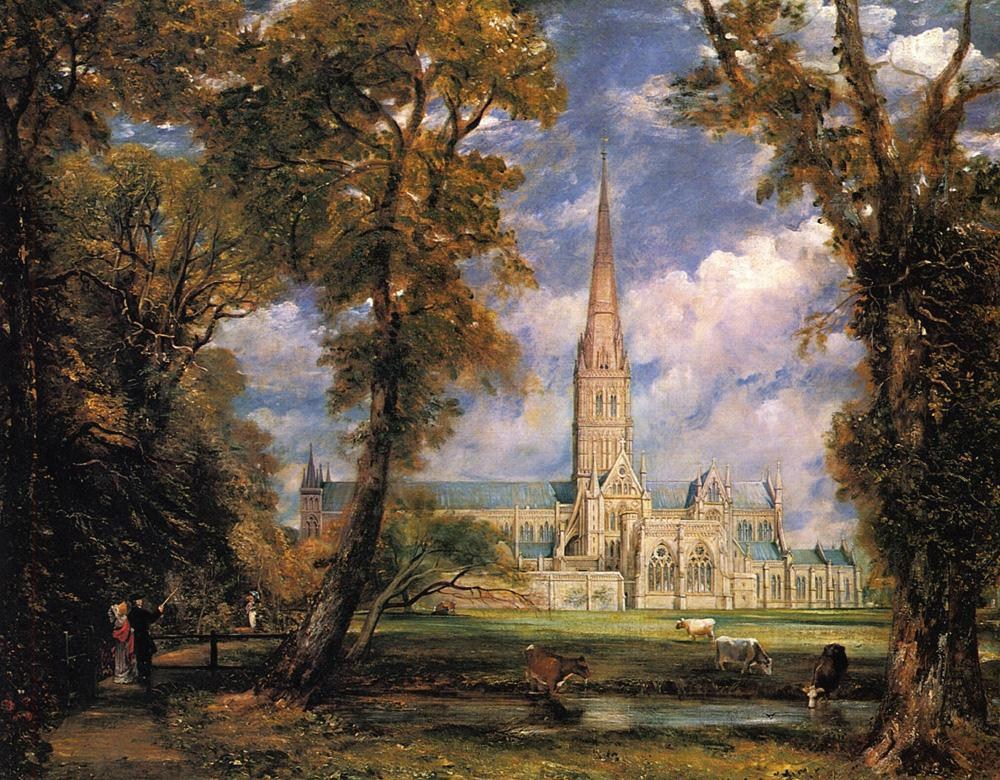 John Constable Salisbury Cathedral from the Bishops' Grounds