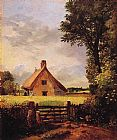 John Constable A Cottage in a Cornfield painting