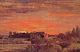 John Constable East Bergholt Rectory painting