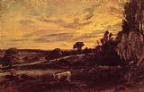 John Constable Landscape Evening painting