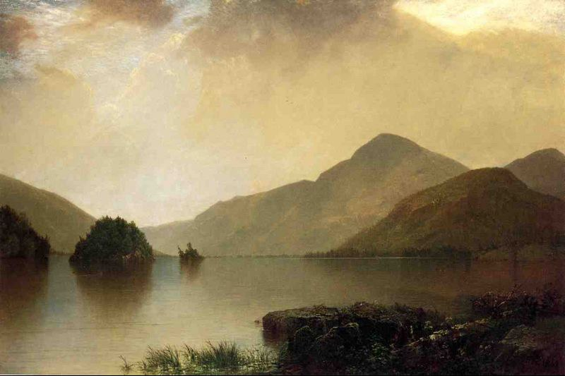 Oil Painting John Frederick Kensett Lake George