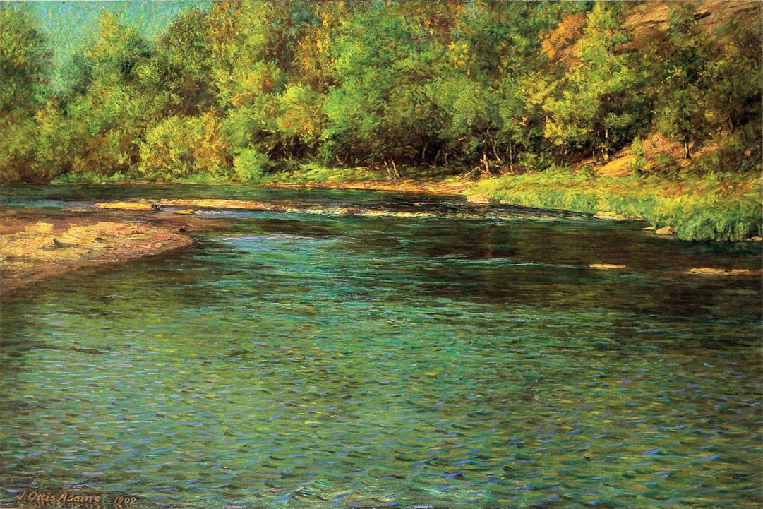John Ottis Adams Iredescence of a Shallow Stream