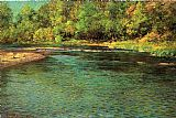 John Ottis Adams Iredescence of a Shallow Stream painting