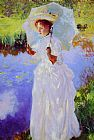 John Singer Sargent A Morning Walk lady painting