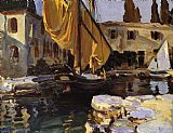 John Singer Sargent Boat with The Golden Sail San Vigilio painting