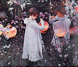 John Singer Sargent Carnation, Lily, Lily, Rose painting