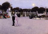 John Singer Sargent In the Luxembourg Garden painting
