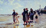 John Singer Sargent Oyster Gatherers of Cancale painting