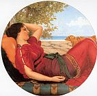 John William Godward In Realms of Fancy painting