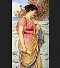 John William Godward Sappho painting