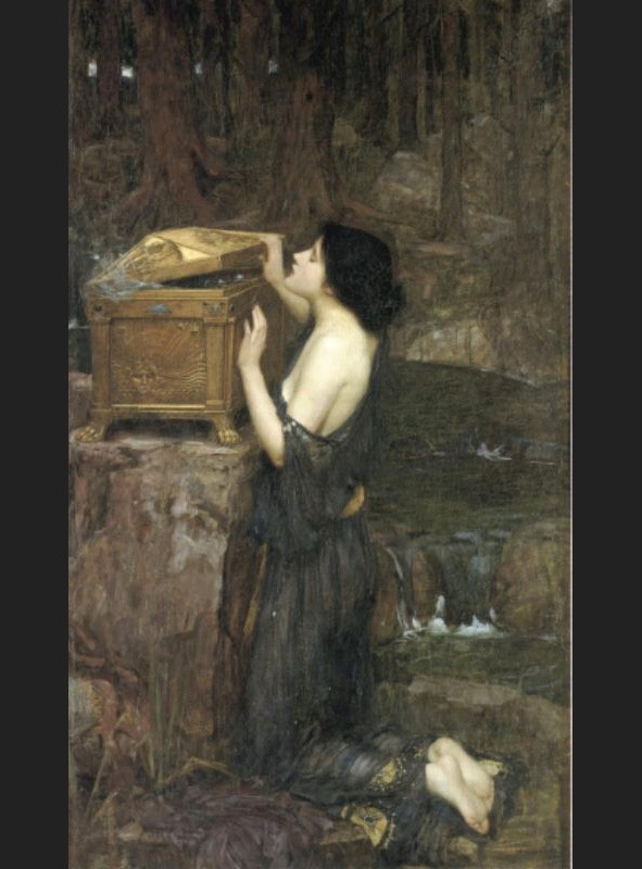The Danaïdes   by John William Waterhouse  Giclee Canvas Print Repro