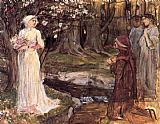 John William Waterhouse Dante and Beatrice painting