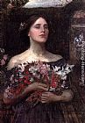 John William Waterhouse Gather Ye Rosebuds painting