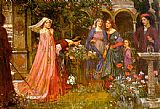 John William Waterhouse The Enchanted Garden painting