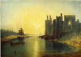 building paintings - Caernarvon Castle by Joseph Mallord William Turner