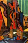 Still Life paintings - Violin and Guitar by Juan Gris
