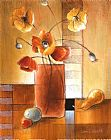 Lanie Loreth Afternoon Poppy Still Life I painting