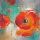 Lanie Loreth Scarlet Poppies in Bloom II painting