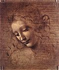 Leonardo da Vinci Female Head painting