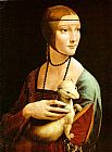 Figure Classic paintings - Lady With An Ermine by Leonardo da Vinci