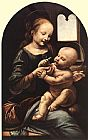Leonardo da Vinci Madonna with Flower painting