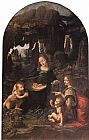 Leonardo da Vinci Virgin of the Rocks painting
