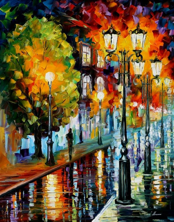 Leonid afremov before the celebration painting best for Famous prints for sale