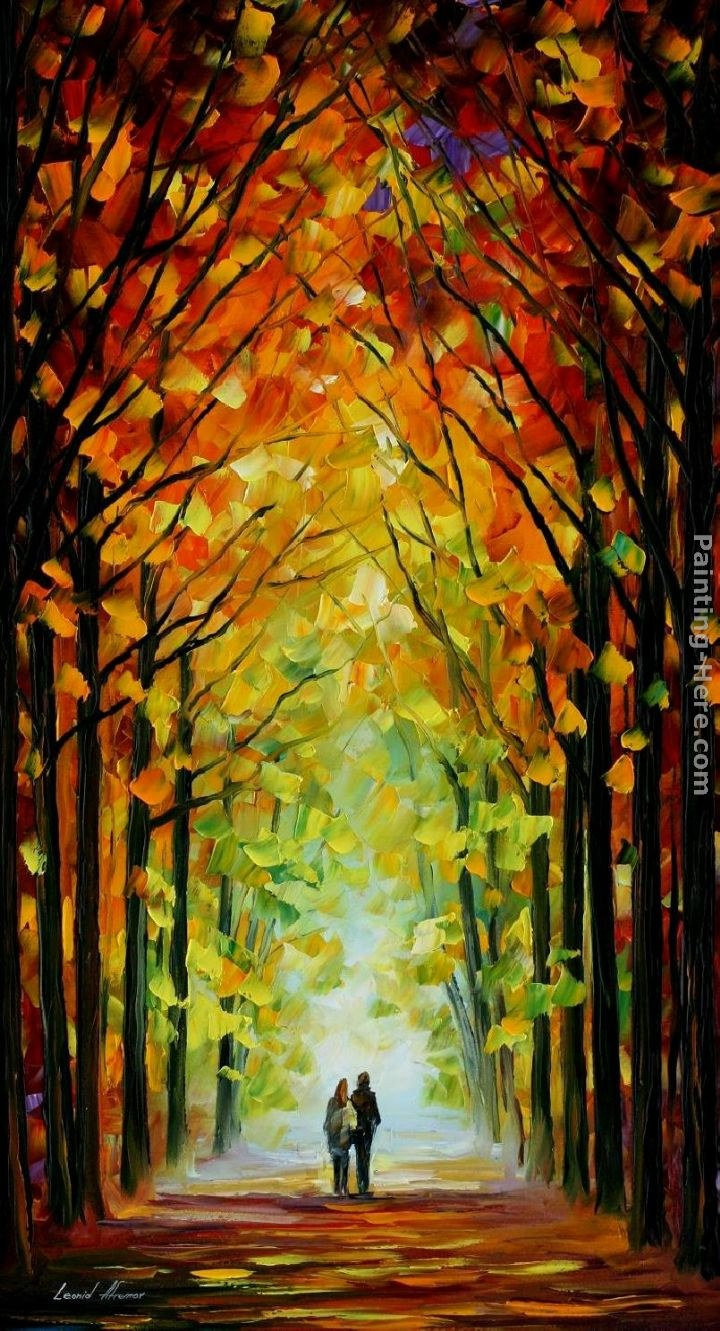 Leonid afremov altar of trees painting best paintings for Best mural paint